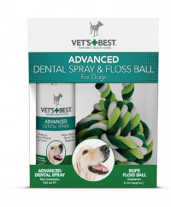 Vet's Best Advanced Dental Spray 120ml + Sznurkowa piłka